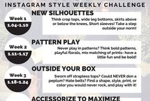 TCFStyle Instagram Photo Challenges / by The Curvy Fashionista