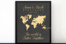 ~ Wedding & Bridal shower ~ Personalized gifts for the couple