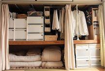 Garderober och hyllor
