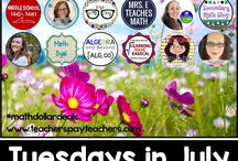 $1 Secondary Math DEALS! July 2018 / Each Tuesday in July 2018 my math friends and I will put a math resource on sale for just $1! Check back each Tuesday in July for the new $1 resources!
