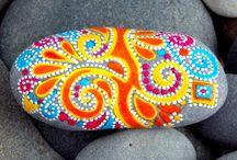 Kamienie ręcznie malowane