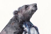niedźwiedź i dziewczyna