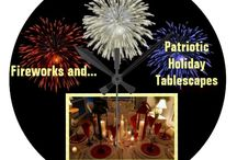 * ✰✰✰ TABLESCAPES &  FIREWORKS ✰✰✰ / Tablescapes for patriotic holidays and Fireworks from all over! / by Dandy Mariella