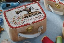 sewing boxes etc