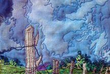 Quilts landscapes-nature