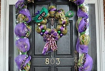 Mardi Gras / Imagine my surprise when I searched for Mardi Gras items to pin on my board and came across my own front door. / by TGH