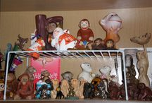 My monkey collection / My collection of monkey figurines. There are over 200 monkeys in my collection.