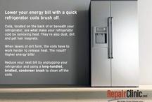 DIY Kitchen Appliance Care & Repair Tips / #Money-saving #kitchen #appliance care and #repair #tips from RepairClinic.com. #refrigerator #range #oven #freezer #microwave #home #homeimprovement #energy #diy More at www.RepairClinic.com and our blog, www.DIY.RepairClinic.com.