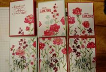 """Stamp:Painted Petals / Handmade cards featuring stamps from """"Painted Petals"""" by Stampin' Up."""
