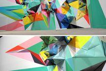 Origami Murals/Installations