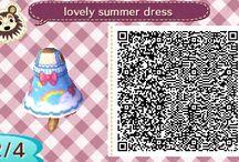 Lovely summer dress qr code Acnl