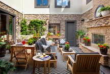 a home with a courtyard