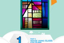 Glass Painting / We are just a day away from the grand reveal! Help us to make it even more exciting by painting a beautiful house with glass colours on any suitable surface. Share your creation and win Hobby Ideas goodies.