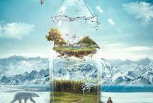 water bottle ads