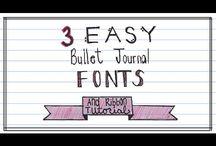 Bullet Journaling: Lettering