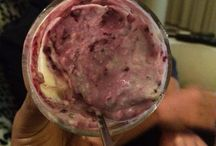 Home made yogurt with blueberry / Just natural ingredients
