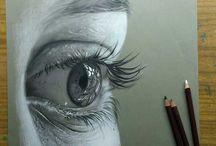 kresby portréty
