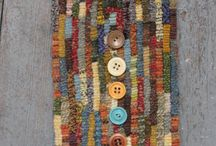 buttons with wool
