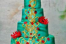 4 tiered Celebration Cakes