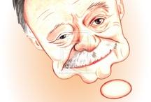 My work-Caricature-Writers  / caricatures by diego abelenda http://xeeme/DiegoAbelenda