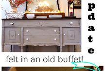 Grandma's buffet makeover / by Nikki Crader
