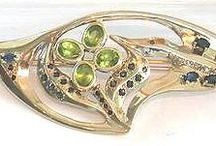 Barrettes for women / Barrettes in silver or gold