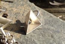Pride pendant, necklace // Pride jewelry // Lesbian, gay, bisexual, transgender, LGBT equality // Tetrahedron 3D triangle in silver or gold
