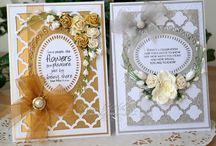 Card Making - Christina - Flowers, Ribbons & Pearls