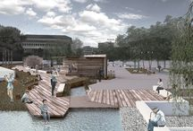 """""""rainscape stories"""" 2nd prize, architectural competition, redesign of Pyrros square, Ioannina,greece"""