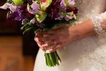 Bouquets  / Bouquet ideas. Mainly purple. Flowers may not be available in May.