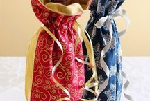 Sewing -- Wine bottle gift bags