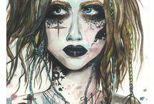 My Painting / #paint #aquarelle #face