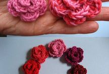 crochet flowers etc