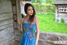 Indie Summer / Rochie lunga de vara cu imprimeu floral POEMA