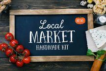Local Market Fonts & Art