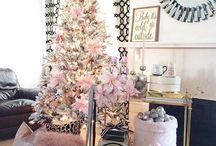 christmas trees, decorations
