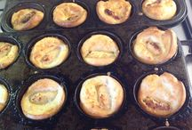 Toad in the hole / Tasty chicken & Apple sausage in Yorkshire pudding batter- all organic