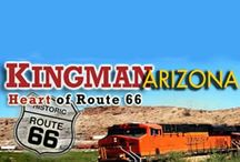 Kingman Arizona  / The City of Kingman is the County seat of Mohave County located in northwest Arizona. Kingman elevations range from 3,300 to 3,800 feet. Our city straddles the scenic Hualapai, Cerbat and Black Mountains, which offer hiking, picnicking, camping, and other outdoor activities in the cool pines. Kingman is an easy commute to Las Vegas, Laughlin, Phoenix and the Grand Canyon or a half day's drive to Los Angeles or San Diego.