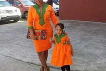 African styles for mom's and babies