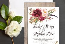 Floral & Botanical Wedding Invitations & Stationery / Beautifully designed wedding invitations featuring florals and botanicals.