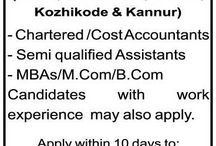 WANTED CHARTERED / COST ACCOUNTANTS, SEMI QUALIFIED ASSISTANTS