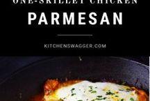 One Skillet Chicken Parmesan