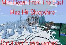 Mini Beast From The East Hits Minecraft