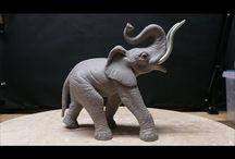 Éléphant a faire pas a pas