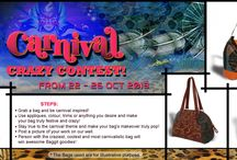 We've Caught the Carnival Bug! New Contest!  / We're delighted to announce a fun new carnival themed contest! As above, Baggitians, this contest involves you giving your bag a makeover that' stays true to the chosen theme.  Best entries will win Baggit goodies!