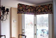 swing door top treatments