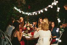 Goodtimes / Friends - Food - Lights - Long tables - Wine - Festivity