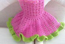amigurimi bebek elbisesi yapımı