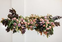 HANGING FLOWERS / Hanging flowers and greenery from single stems to floral chandeliers, suspended garlands, and large scale installations.