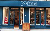 """Boutique """"29 février"""" / Vêtements et accessoires personnalisables. 29 rue Lemercier, Paris 17ème Horaires: mercredi au samedi 11h30-19h30  Email: contact@29-fevrier.fr Tel: +33 (0)9 50 43 47 33 Web site: http://29-fevrier.fr/"""